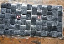 Spray Black Granite Mosaic Tiles