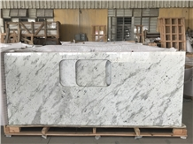 Andromeda White Granite Kitchen Countertop