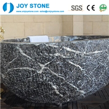Good Quality China Hang Grey Marble Bath Tub