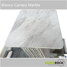 Carrara White Marble with Honecomb Backed Tabletop
