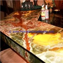 Beautiful Multi Green Onyx Countertops