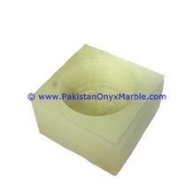 Onyx Candle Holder Cube Square Shaped