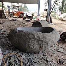 Natural Stone Flower Pot for Garden Landscaping