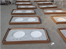 Carrara White Marble Vanity Tops