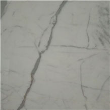 China Good Fine Lines Snow White Marble Slabs
