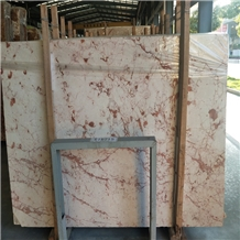 Ivory White Red Marble Stone Slabs Floor Factory