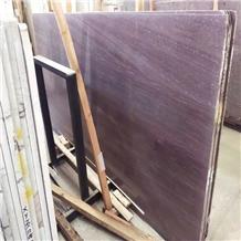 Polished Purple Wood Veins Marble Slabs