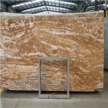 Polishing Royal Amber Beige Marble Stone Slabs