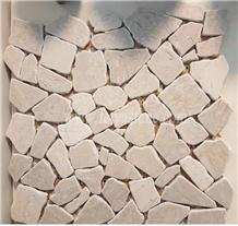 Crazy Pattern Limestone Mosaic Pattern