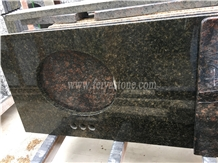 Ubatuba Green Granite Vanity Top Bathroom Top