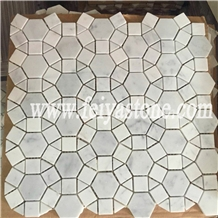 White Round Pebble Mosaic