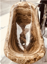 Luxury Brown Onyx Bathtub