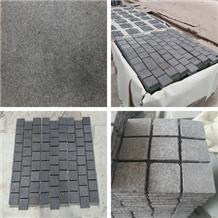 Urban Driveway Black Granite Cube Stone Pavers
