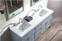 Ice White Quartz Recycled Glass Stone Vanity Tops