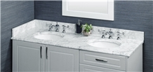 Natural Bianco Carrara Marble Bath Vanity Top