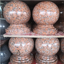 Maple Red Granite Car Parking Bollards Balls Price