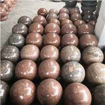 Red Pearl Granite Car Parking Ball Bollards Barrie