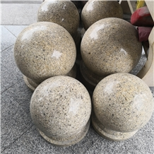 Yellow Granite Car Parking Sphere Balls Bollards