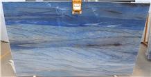 Blue Macaubas Quartzite Slab, Azul Macaubas Slab
