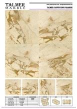 Talmer Cappuccino Paradise Marble Tiles, Slab