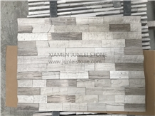White Wood Grain Cultural Stone Indoor Marble