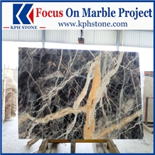 Black Jungle Marble Floor Tiles&Slabs