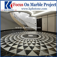 Black Portoro Gold Marble Medallions and Patterns