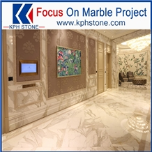 Calacatta White Marble in Macau Casinos
