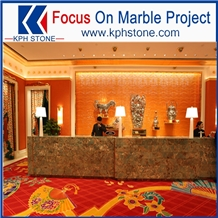 Luxury Amazone Marble in Interior Decor Project
