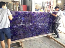 Luxury Decoration Violet Agate Stone Slab for Wall