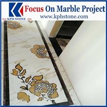 Magic Seaweed Marble Waterjet Floor Pattern