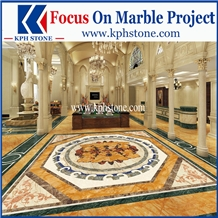 Marble Decorative Medallions Pattern for Hotels