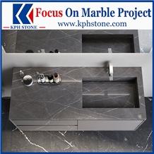 Petra Grey Marble Bathroom Countertops&Vanity Tops