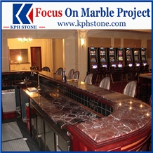 Red Marble Rosso Levanto Marble Kitchen Countertop