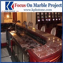 Rosso Lepanto Marble Kitchen Countertops