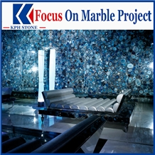 Sadalite Blue Jasper Semiprecious Stone Wall Covering Tiles