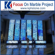 Translucent Blue Agate Slabs for Wall Decor