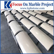 Victory Beige Marble Column for Hotel Projects