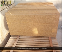 Sandstone Bush Hammered Wall Cladding Stone