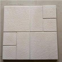 White Limestone Bush Hammered