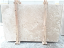 Light/Ivory Travertine Slabs Cross-Cut
