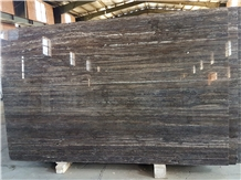 Silver Titanium Travertine Slabs