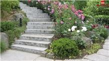 Jura Travertine Garden Steps
