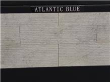 Atlantic Blue Limestone-Azul Atlantico Combed Wall