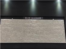 Blue Glasgow-Gascogne Blue Limestone Chiseled Wall