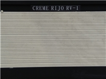 Creme Rijo Rv Limestone Combed Wall Tiles