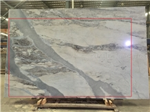 River White Marble Slab with Grey Sand Veins,Panel Tiles Interior Wall,Flooring