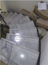 Viscont White Juparana Granite Polished Staircase,Interior Floor Stepping,Risers Stair