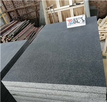 China Black Basalt New G684 Flamed Brushed Tiles