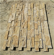 Yellow Stacked Stone Veneer for Wall Cladding